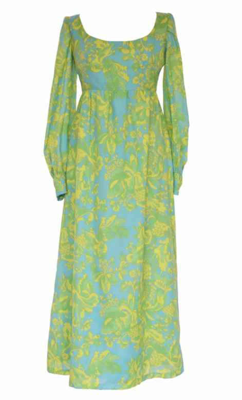 60s Psychedelic Maxi Dress