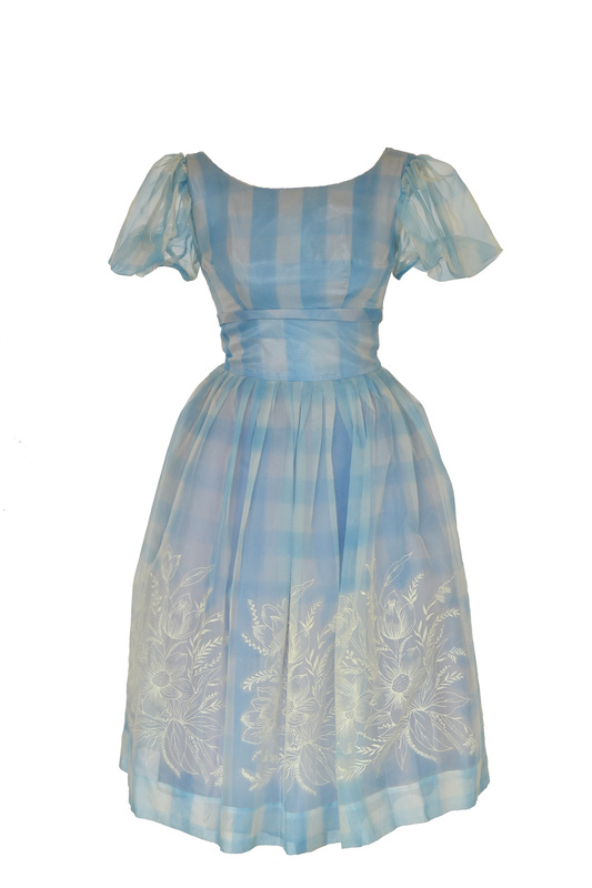 50s Pale Blue Cocktail Dress